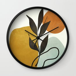 Soft Abstract Small Leaf Wall Clock