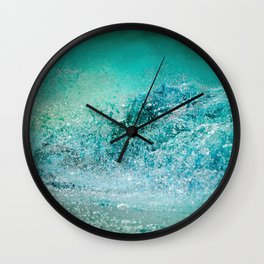 Turquoise Wave - Blue Water Scene Wall Clock