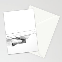Black and white airplane Stationery Cards