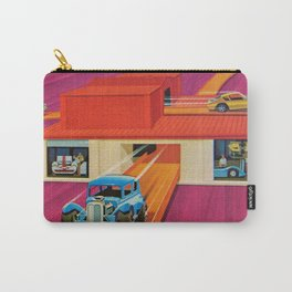 1970's Redline Super-charger 2-Way toy car Vintage Poster with Redline Vicky  Carry-All Pouch