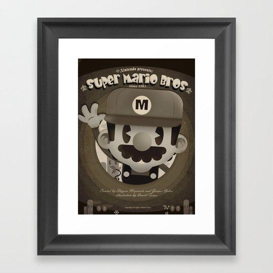 Mario Bros Fan Art Framed Art Print