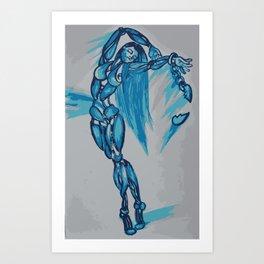 Blue Dancer Art Print