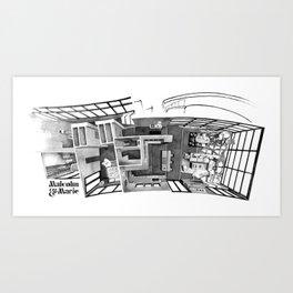 MALCOLM & MARIE's glass house  Art Print