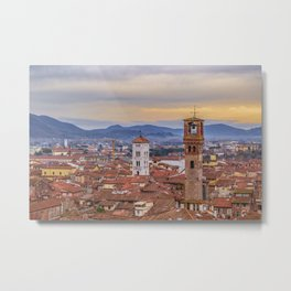 Aerial View Historic Center of Lucca, Italy Metal Print