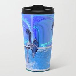 Leaping Dolphins Travel Mug
