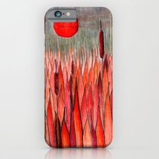Sunset Over the Cattail Field iPhone 6s Slim Case