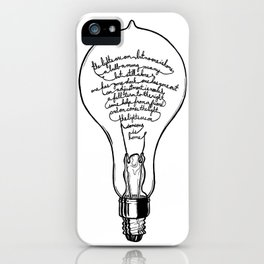 "Ode to the Bulb - ""lights are on"" iPhone Case"