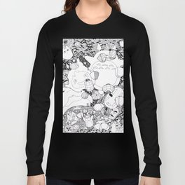 Ghibli-Inspired Collage Long Sleeve T-shirt