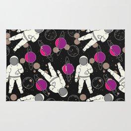 Cosmic Hipster Astronaut Rug