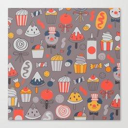 Big top treats. Funny Circus Canvas Print