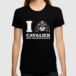 I Love Cavalier King Charles Spaniel modern v2 T-shirt