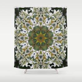 Lacy Serviceberry mandala 0033 k11 Shower Curtain