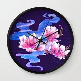 Magnolia night Wall Clock