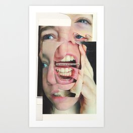 What should I do with my anger? Should I let it out, or should I keep it repressed? Art Print
