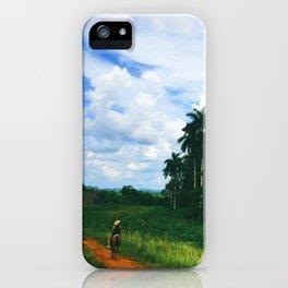 Cuban Woman Traveling on Horseback   2015 iPhone Case