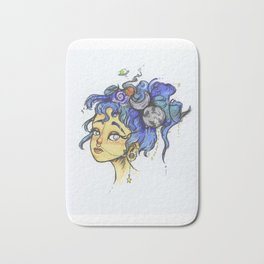 Galaxy Girl Bath Mat