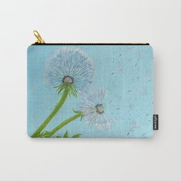 Flower themed 'Dandelion Wishes' Carry-All Pouch