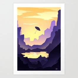 Umbrella's voyages Art Print
