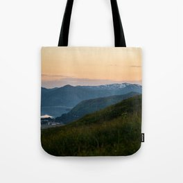 Island Mountaintop Zoomed Tote Bag