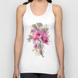 Red Water Blooms Unisex Tank Top
