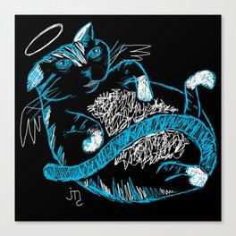 Fat Cat (Angel) Canvas Print
