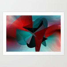 3 colors for a polynomial - landscape format Art Print