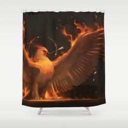 Marvelous Phoenix Fire Bird Spreading Wings Ultra HD Shower Curtain
