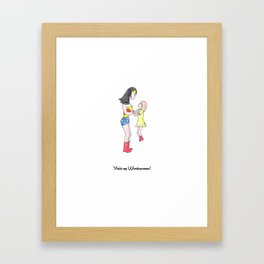 My Wonderwoman @ Hearts on Mums 2015 Framed Art Print