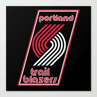 nba Canvas Prints featuring NBA - Trail Blazers by Katieb1013