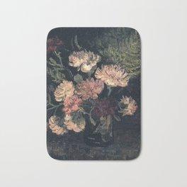 Vincent van Gogh Vase With Carnations 1886 Bath Mat