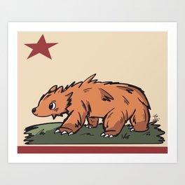 Cali Bear Art Print