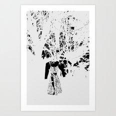 Alice in Grey Art Print