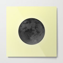 BLACK MOON + CANARY YELLOW SKY Metal Print