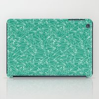 aviation iPad Cases featuring Schoolyard Aviation Green by Dianne Delahunty