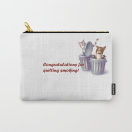 Greeting for Quitting Smoking-Cat Carry-All Pouch