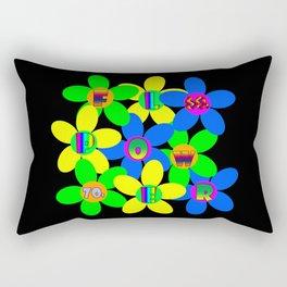 Flower Power 60s-70s Rectangular Pillow