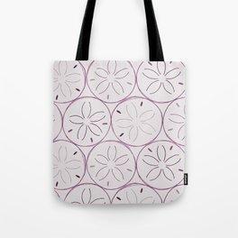 Sanddollar Pattern in Purple Tote Bag