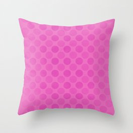 Faded pink circles pattern Throw Pillow