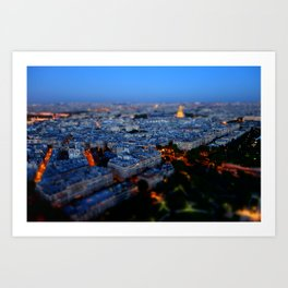 Little Blue Paris Art Print