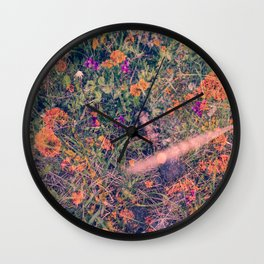 Alaska, Exposed: Lichens & Flowers Wall Clock