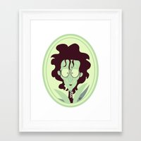 edward scissorhands Framed Art Prints featuring Edward Scissorhands by Bauimation