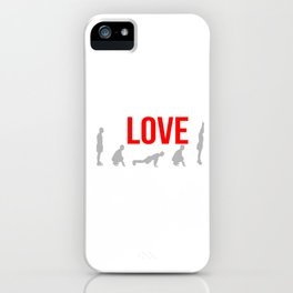 Thrust Exercise Bodyweight Aerobic Strength Workout Training I Love Burpees Squat Gift iPhone Case