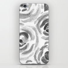 Black and White Rose Watercolor  iPhone Skin