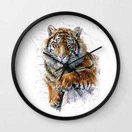 Watercolor Tiger Wall Clock