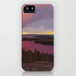 Mountaintop Landscape at Dawn by Hilding Werner iPhone Case