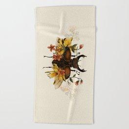 Blooming Beetle Beach Towel