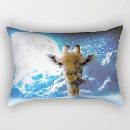 Giraffe on Sky Rectangular Pillow
