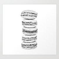 macaroon Art Prints featuring Macaroon by Elena Samarkina