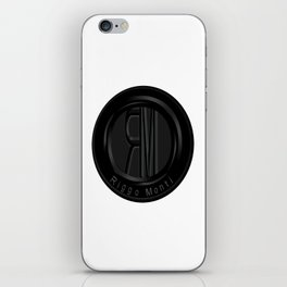 Riggo Monti Design #2 - Riggo Emblem (Wht. Bkgrnd.) iPhone Skin