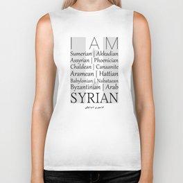 I AM SYRIAN Biker Tank